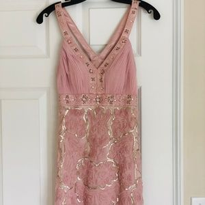 Sue Wong Beaded and Floral Design Dress
